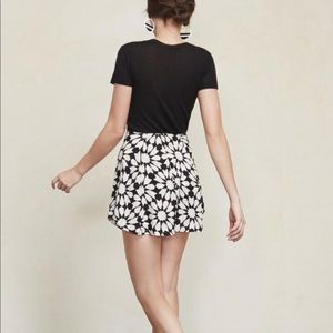 Reformation Black Naomi Skirt